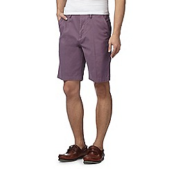 Maine New England - Big and tall purple chino shorts