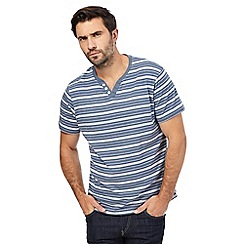 Maine New England - Blue stripe print t-shirt
