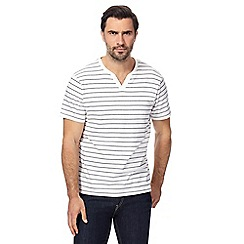Maine New England - White simple striped t-shirt
