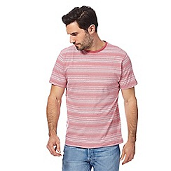 Maine New England - Big and tall light pink ombre striped t-shirt