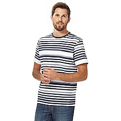Maine New England - Big and tall navy and white striped t-shirt