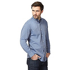Maine New England - Big and tall navy regular fit shirt