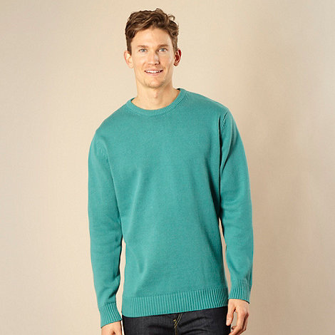 Maine New England - Turquoise crew neck jumper