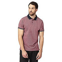 Maine New England - Big and tall red stitch print polo shirt