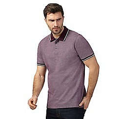 Maine New England - Big and tall purple birdseye tipped polo shirt