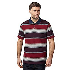 Maine New England - Red striped polo shirt