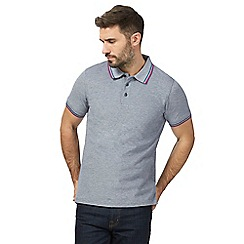 Maine New England - Big and tall navy contrasting tipping tailored fit polo shirt