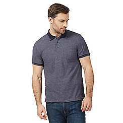 Maine New England - Navy textured tailored fit polo shirt