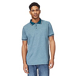 Maine New England - Green textured polo shirt