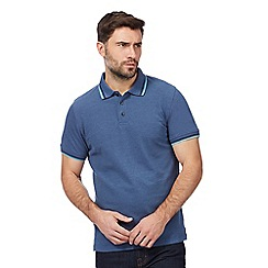 Maine New England - Big and tall blue tipped polo shirt