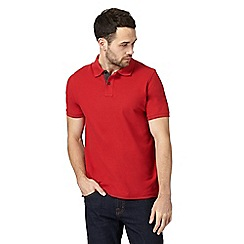 Maine New England - Big and tall red textured polo shirt