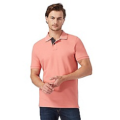 Maine New England - Light pink textured polo shirt