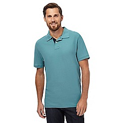 Maine New England - Big and tall turquoise textured polo shirt
