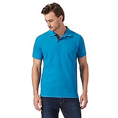 Maine New England - Big and tall blue textured polo shirt