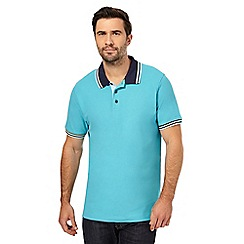 Maine New England - Big and tall light blue tipped polo shirt