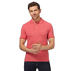 Maine New England - Big and tall pink textured tailored fit polo shirt