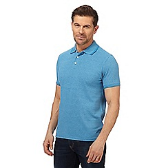 Maine New England - Blue textured tailored fit polo shirt