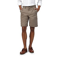 Maine New England - Big and tall taupe multi pocketed chino shorts