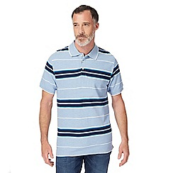 Maine New England - Light blue striped polo shirt