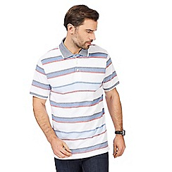 Maine New England - Big and tall multi-coloured striped polo shirt