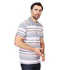 Maine New England - Multi-coloured striped tailored fit polo shirt