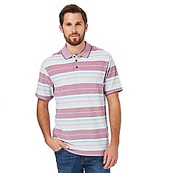 Maine New England - Pink striped classic fit polo shirt
