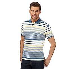 Maine New England - Yellow striped tailored fit polo shirt