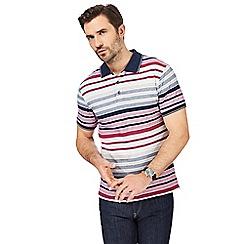 Maine New England - Multi-coloured striped ombre polo shirt