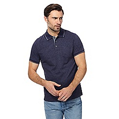 Maine New England - Navy broken stripe tailored fit polo shirt