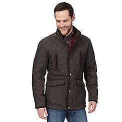 Maine New England - Big and tall chocolate brown quilted jacket