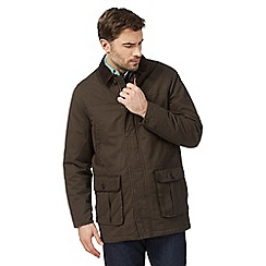 Maine New England - Brown corduroy collar car coat