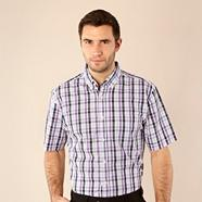 Big and tall lilac checked shirt