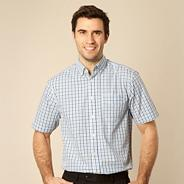 Big and tall blue gingham shirt