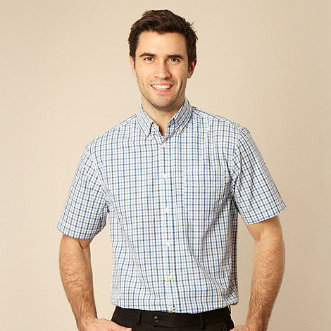 Maine New England - Big and tall blue gingham shirt