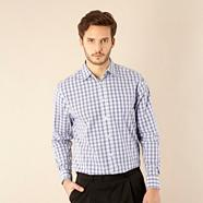 Big and tall blue bold checked shirt