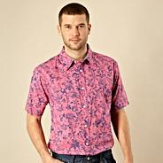 Big and tall bright pink floral shirt