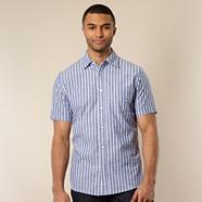 Big and tall blue bengal striped oxford shirt