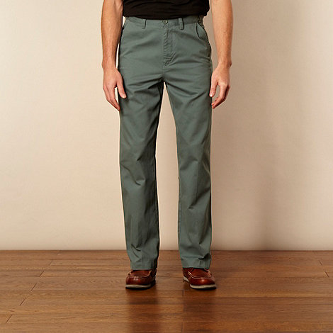 Maine New England - Big and tall turquoise straight leg chinos