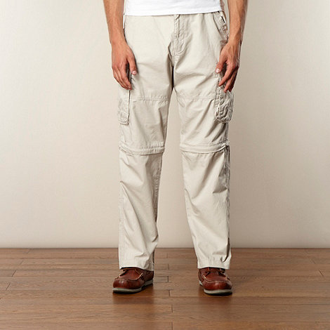 Maine New England - Big and tall natural chambray trimmed cargo trousers