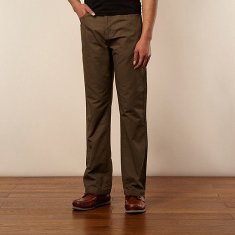 Maine New England - Big and tall khaki five pocket ottoman trousers