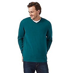 Maine New England - Green V neck jumper