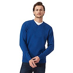 Maine New England - Big and tall blue v neck jumper