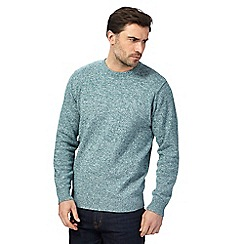 Maine New England - Big and tall green marl knit crew neck jumper