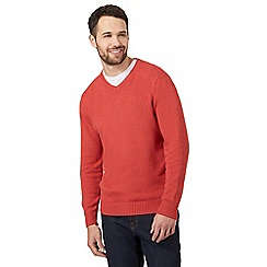 Maine New England - Big and tall orange v neck jumper
