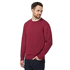 Maine New England - Big and tall dark pink crew neck jumper