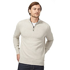 Maine New England - Beige funnel neck sweater