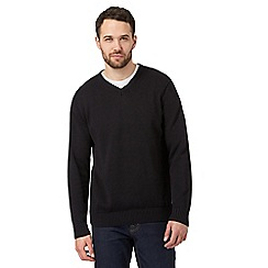 Maine New England - Black V neck jumper