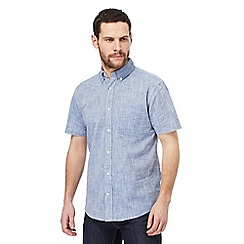 Maine New England - Big and tall navy single pocket regular fit shirt
