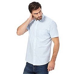 Maine New England - Pale blue single pocket regular fit shirt