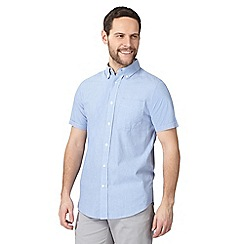 Maine New England - Big and tall light blue fine striped print tailored fit shirt